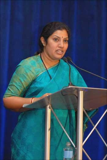 Daggubati Purandeswari, the Minister of State for Human Resource Development.
