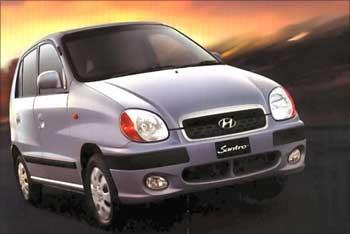 Hyundai Santro.