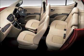 Hyundai Getz interior.