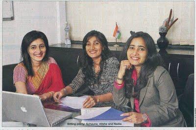 Schauna, Alisha, Nadia Chauhan.