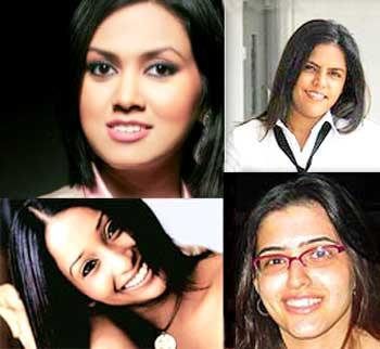 Clockwise: Meghna Puri, Lara Balsara, Rangita Nandy, Devita Saraf.