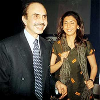 Tanya Dubash with dad Adi Godrej.