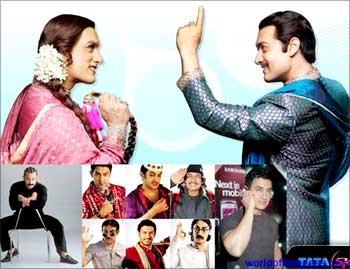 Actor Aamir Khan in the Tata Sky ad.