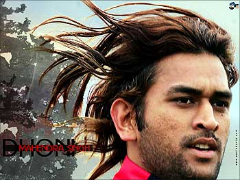 Cricketer Mahendra Singh Dhoni.