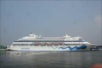 Luxury cruise vessel M V AIDA CARA.