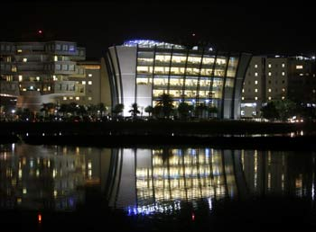 A view of the Bhagmane Tech Park in Bangalore.