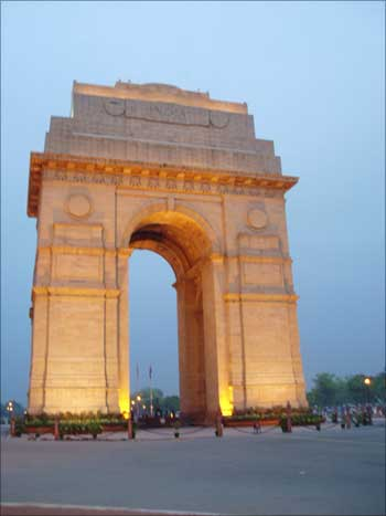 The India Gate, New Delhi.