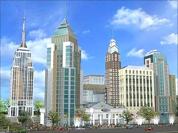 The proposed Prestige UB City in Bengaluru.