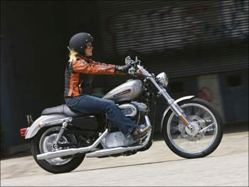 The 2009 XL 883C Sportster 883 Custom.