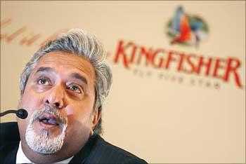 Kingfisher chairman Vijay Mallya.