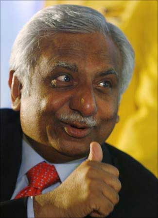 Jet Airways Chief Naresh Goyal.
