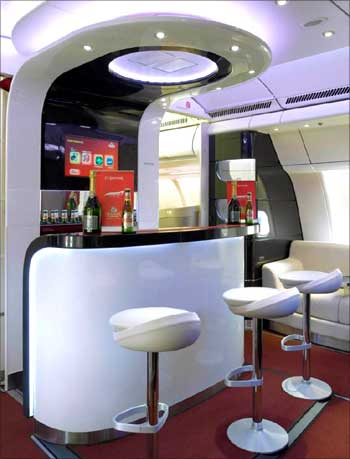 Bar in Kingfisher Airlines.