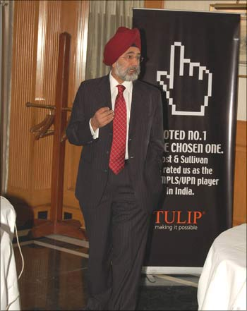 A Tulip Telecom official at a seminar.