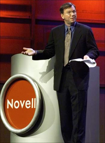 Eric Schmidt, who was the CEO of Novell, in 2001 to join Google.