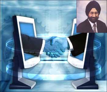 R Systems. (Inset) Satinder Singh Reshi, founder, R Systems