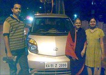 Bharath D Brahmakal with his family.