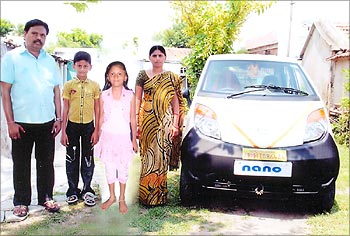 Muthyam Rao with his family.