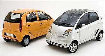 The world's cheapest car, Tata Nano.