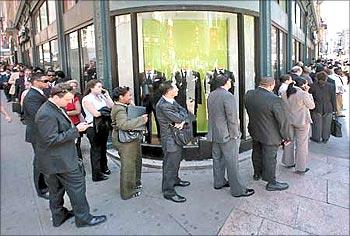 Unemployment, a major problem.