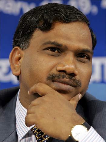 Telecom Minister A Raja