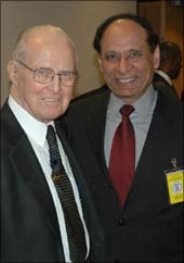 Dr Islam A 'Isi' Siddiqui (right) with Noble Laureate Norman Borlaug at a conference in Washington DC in 2006. Borlaug passed away on September 12, 2009.