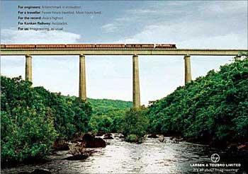 A Larsen Toubro advertisement.