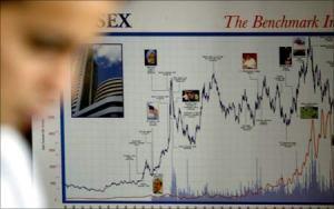 The Sensex graph