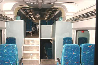 Interior view of the coach.