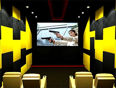 A HD multimedia room.