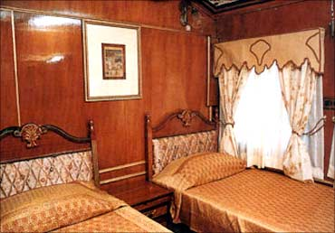 Interior view of the Palace on Wheels.