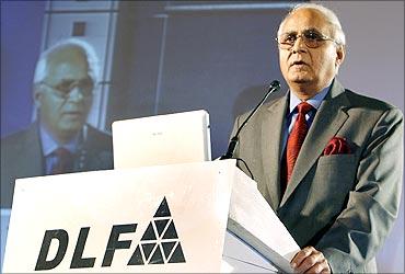 DLF chairman K P Singh.