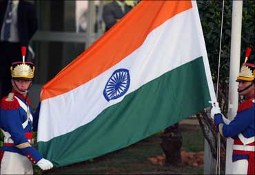 The Indian Tricolour.