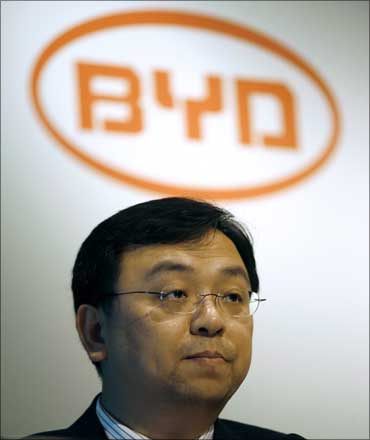 BYD chairman and president Wang Chuanfu. Chinese carmaker BYD Co is backed by US billionaire investor Warren Buffett.