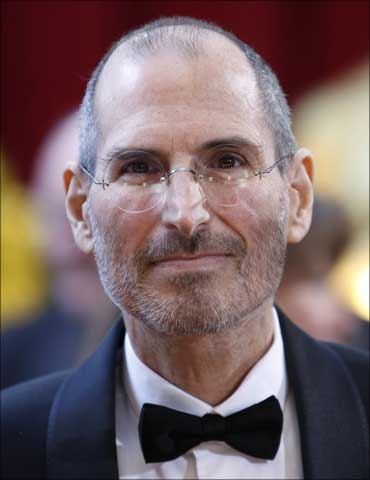 Apple chief executive officer Steve Jobs at the 82nd Academy Awards in Hollywood