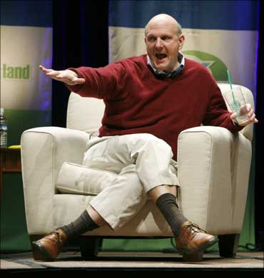 Microsoft CEO Steve Ballmer at the Search Marketing Expo in Santa Clara, California.