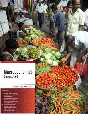 Image: (Inset) Macroeconomics Demystified, by Madan Sabnavis.