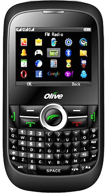 Olive handset.