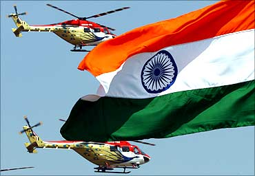 The Indian flag.