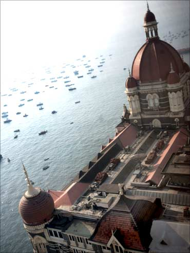 The Taj Mahal Hotel in Mumbai.
