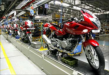 A two-wheeler factory in Pune.