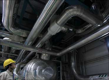 Steam turbine.