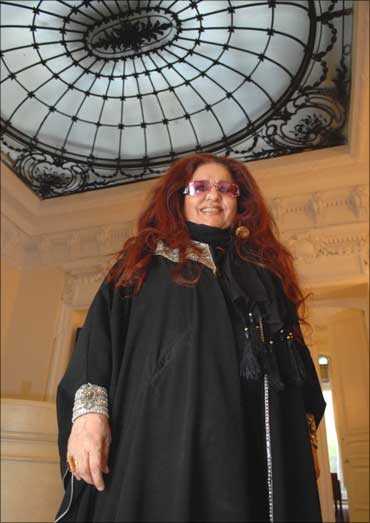 Shahnaz Husain, India's queen of herbal beauty products, at Ronald R