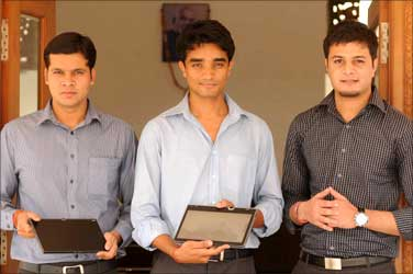 Rohit Rathi (L), Rohan Shravan and Sachin Ralhan (R).