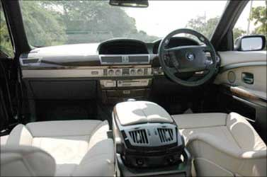 Interior of a BMW.