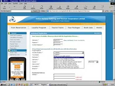 IRCTC ticketing.