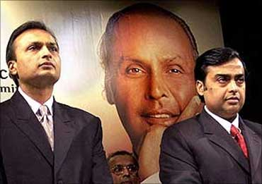 Mukesh Ambani and Anil Ambani.