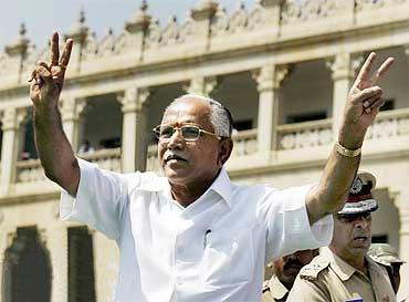 Karnataka Chief Minister B S Yeddyurappa.