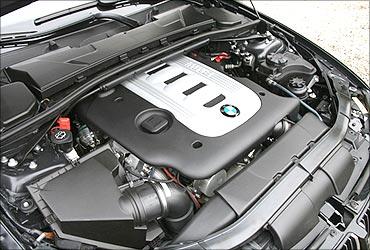 A BMW diesel engine