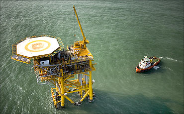 Cairn India's offshore Ravva block.