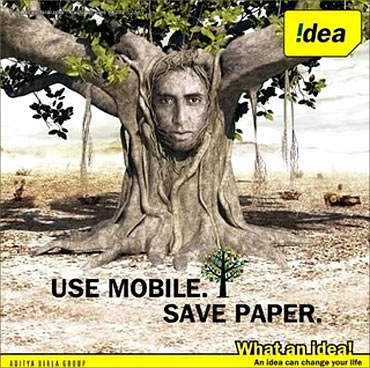 Idea Cellular advertisement.
